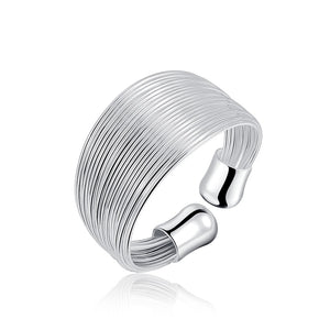 Silver Plated Open Chain Ring