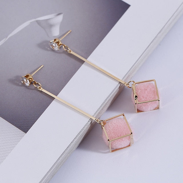 Geometric Dangle Drop Earrings