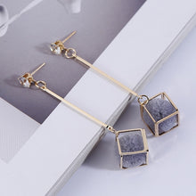 Load image into Gallery viewer, Geometric Dangle Drop Earrings