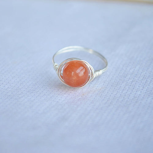 Sunstone Natural Stone Ring