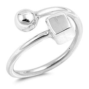 Solid Sterling Silver Shape Ring