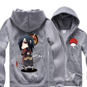 Sweat-Shirt Zip Madara Uchiwa - fandemanga