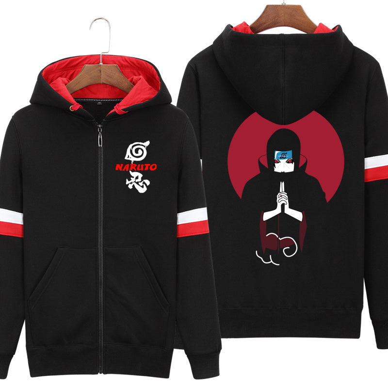 Sweat-Shirt Zip Itachi Uchiwa Konoha