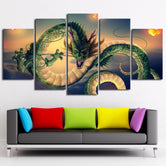 Poster Dragon Ball Z Shenron Dragon Céleste (5 Pièces)