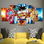 Ensemble 5 Panneaux Son Goku Great Transformation - fandemanga