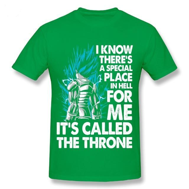 T-Shirt God Blue Living in Throne - fandemanga