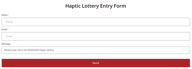 Haptic Release: Lotteries