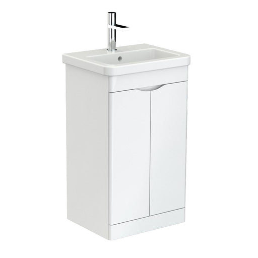 700100 - Saneux INDIGO Duble door unit floor mounted  for basin - 500mm - gloss white