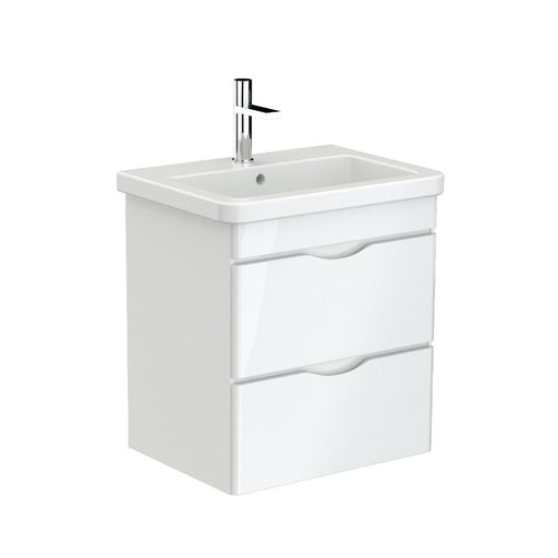700121 - Saneux INDIGO Duble drawer unit for basin -  600mm - gloss white