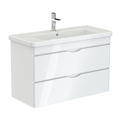 700123 - Saneux INDIGO Duble drawer unit for basin -  1000mm - gloss white