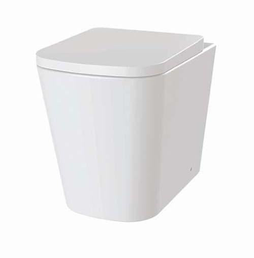 The White Space Anon Rimless Back To Wall Wc Pan - White ANW1