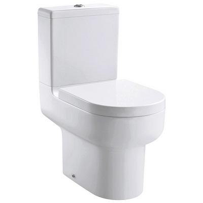 Pura Duro Open Back Close Coupled Wc Bowl With Fixings And Slim Wrap Over Quick Release Seat