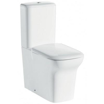 Pura Grace Comfort Height Close Coupled Closed Back Wc, Cistern And Luxury Puraplast Seat