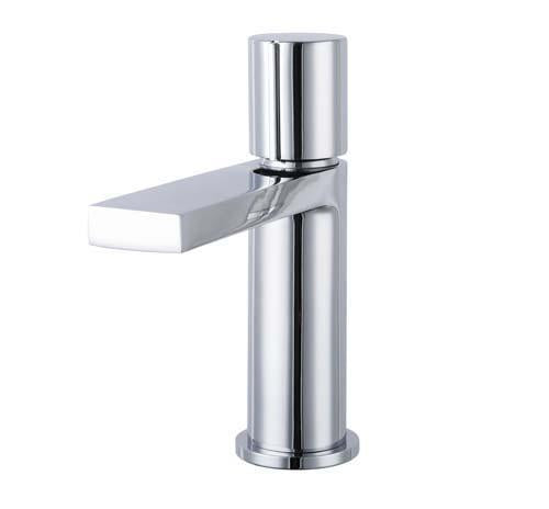 The White Space Evo Monobloc Basin Mixer With Sprung Plug Waste - EV1C