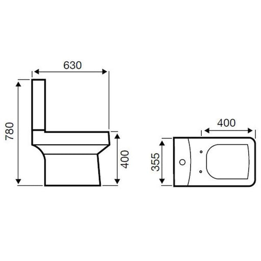 Kartell Embrace Close Couple Toilet - Cistern - Soft Close Seat