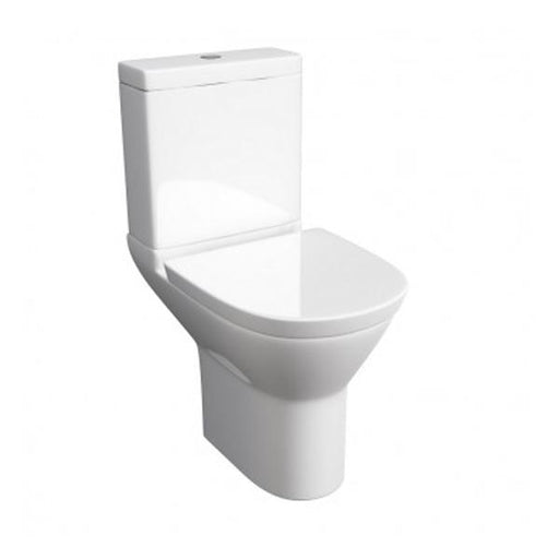 Kartell Project Round Close Coupled Toilet - Cistern - Soft Close Seat - White