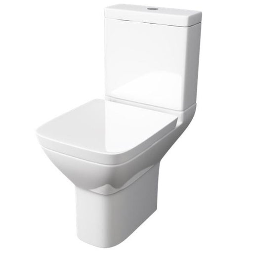 Kartell Project Square Close Coupled Toilet - Cistern - Soft Close Seat - White
