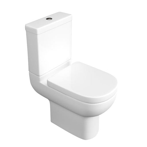 Kartell Studio Close Coupled Toilet - Cistern - Soft Close Seat - White
