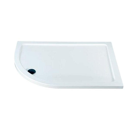 Kartell KT35 Offset Quadrant Shower Tray - 900mm x 760mm - Left Handed - White