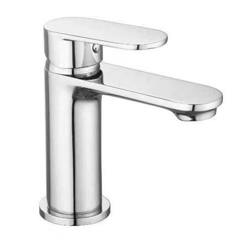 The White Space True Brassware Mini Monobloc Basin Mixer With Sprung Plug Waste - LEV01