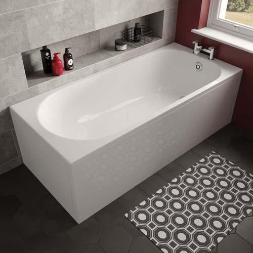 The White Space Arnold Single Ended Bath - 1500 X 700mm - WSBA1570