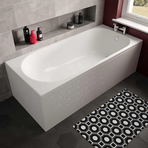 The White Space Arnold Single Ended Rectangular Bath - 1580mm X 680mm - WSBA1670
