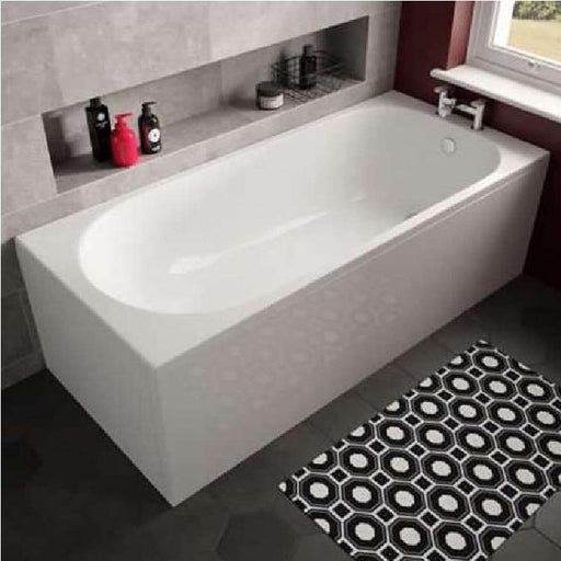 The White Space Arnold Single Ended Rectangular Bath - 1680mm X 680mm - WSBA1770