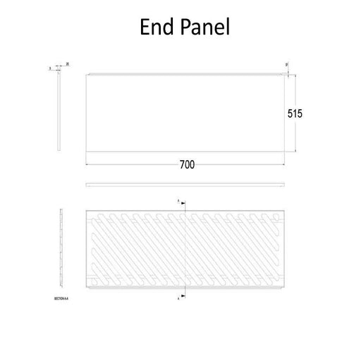 The White Space End Bath Panel - 700mm WSBP70