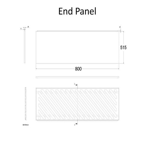 The White Space End Bath Panel - 800mm WSBP80