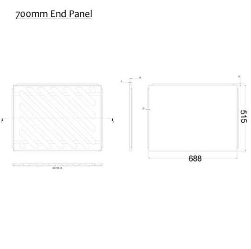 The White Space Scene Bath End Panel - 700mm Long - WSSBP70CH