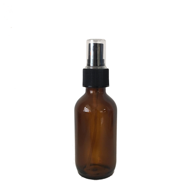 200ml Amber Glass Bottle with Fine Mist Atomiser Spray