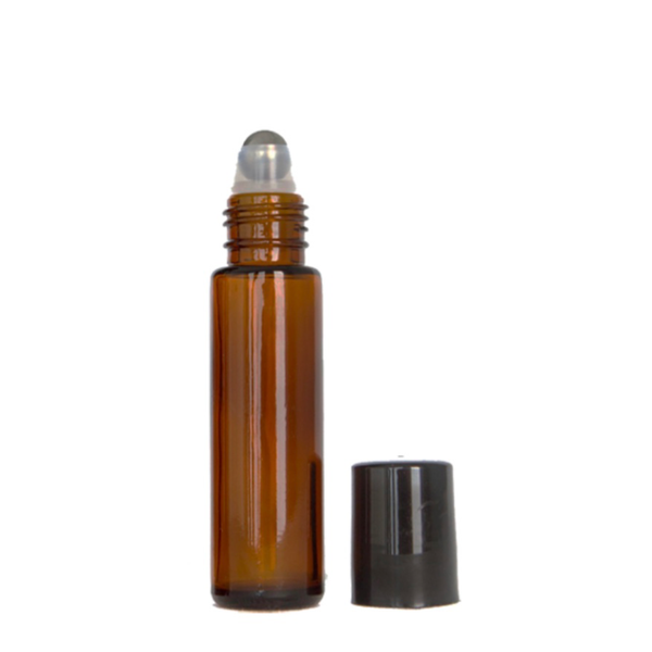 10ml Amber Glass Roller Bottle (Thick Glass)