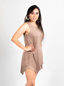 SLEEVELESS SWING T SHIRT DRESS - 512 In Style