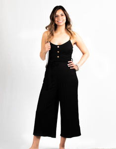 BUTTON UP STRAP JUMPSUIT (KNIT) - 512 In Style