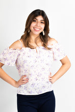 Load image into Gallery viewer, FLORAL COLD SHOULDER TOP - 512 In Style