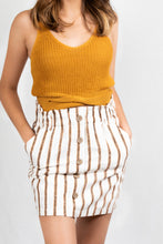Load image into Gallery viewer, STRIPED BUTTON DETAIL SKIRT - 512 In Style