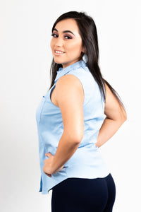 FITTED SLEEVELESS TOP WITH ONE POCKET - 512 In Style