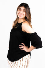Load image into Gallery viewer, COLD SHOULDER RUFFLE BLOUSE - 512 In Style