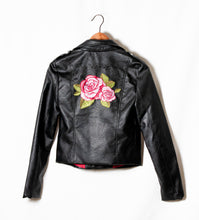 Load image into Gallery viewer, FAUX LEATHER JACKET WITH BACK EMBROIDER - 512 In Style