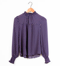 Load image into Gallery viewer, HALF NECK SMOCKING FRONT SHIRRING BLOUSE - 512 In Style