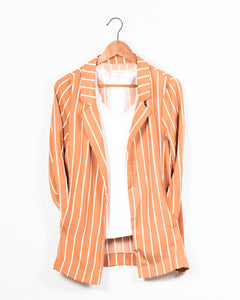 STRIPE LONG SLEEVE JACKET - 512 In Style