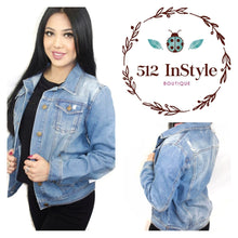 Load image into Gallery viewer, DISTRESSED BASIC DENIM JACKET - 512 In Style