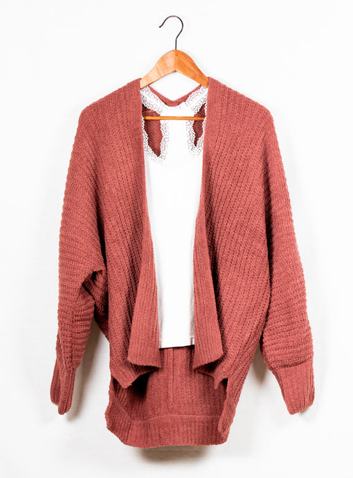 AKRIS  HEAVY KNIT CARDIGAN SWEATER - 512 In Style