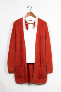 CHUNKY PLEAT CARDIGAN - 512 In Style