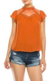 LACE BLOUSE DIAMOND JAQUARD TOP - 512 In Style