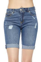 Load image into Gallery viewer, DENIM CUFFED BERMUDA SHORTS - 512 In Style
