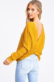 X BACK V NECK SWEATER - 512 In Style