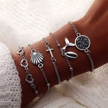 Load image into Gallery viewer, IPARAM Bohemian Shell Map Turtle Bracelet Set 2019 Retro Geometric Statement Female Glamour Fashion Jewelry Jewelry Gift - 512 In Style