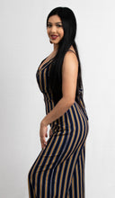 Load image into Gallery viewer, STRIPED BACK SELF-TIE JUMPSUIT - 512 In Style