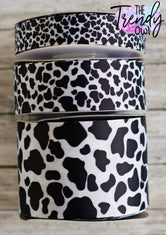 "7/8"", 1.5"" & 3"" Cow Print - Heat Transfer - BY THE YARD"